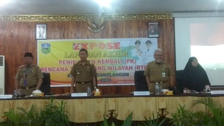 Pemkab Gelar Expose Laporan Akhir Peninjauan Kembali RTRW Kabupaten Sarolangun tahun 2014-2034