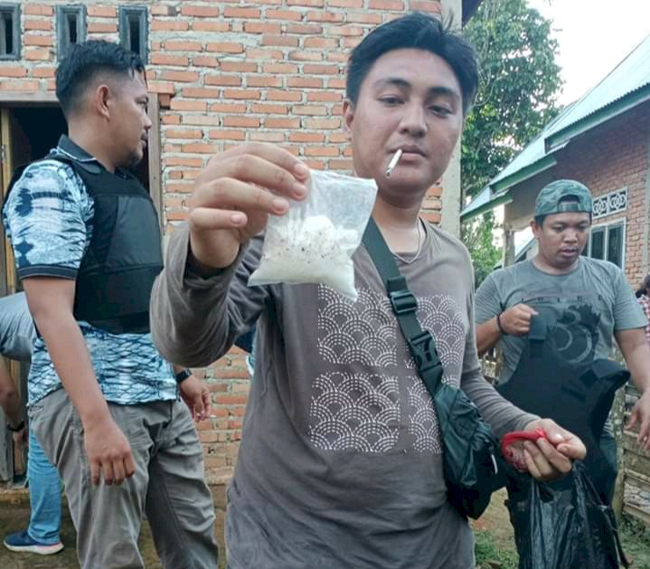 Bandar Narkoba di Bathin II Pelayang Bungo-Jambi Dibekuk Polisi, Meski Pelaku Sempat Kabur