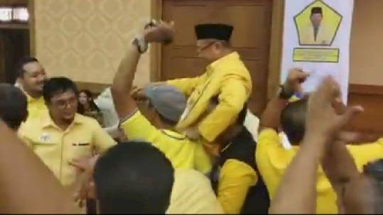 Aklamasi! 17 Pemilik Suara Dukung CE Ketua Golkar Jambi