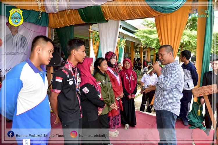 Bupati Romi Hariyanto Hadiri Milad dan Expo SMAN 3 Tanjab Timur